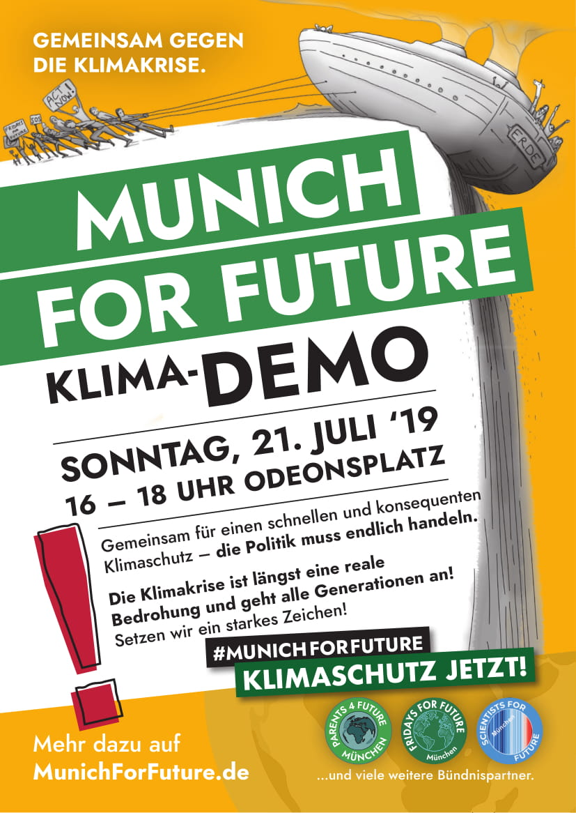So., 21.07.2019: Klimademo in München
