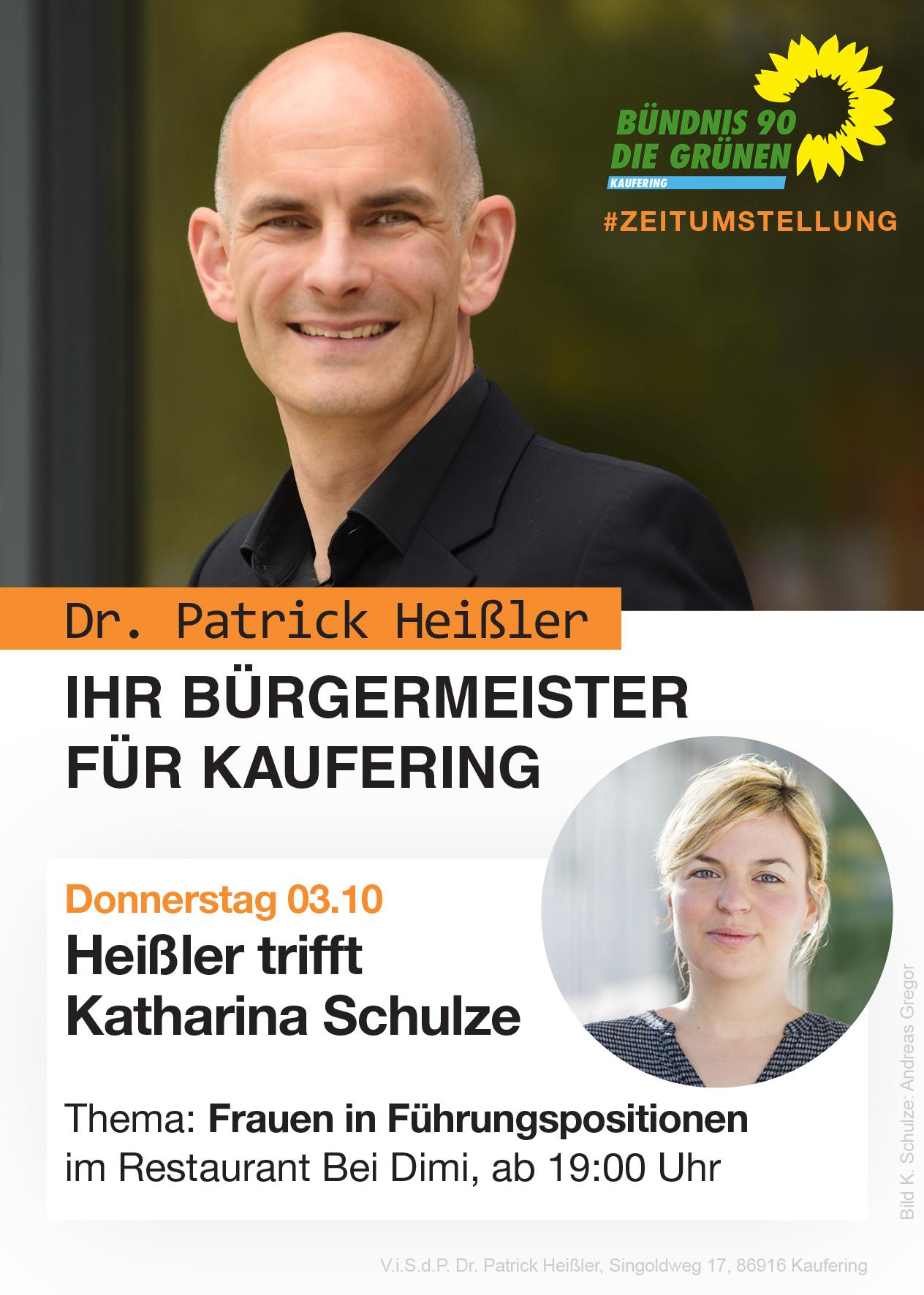 03.10.2019: Patrick Heißler trifft Katharina Schulze