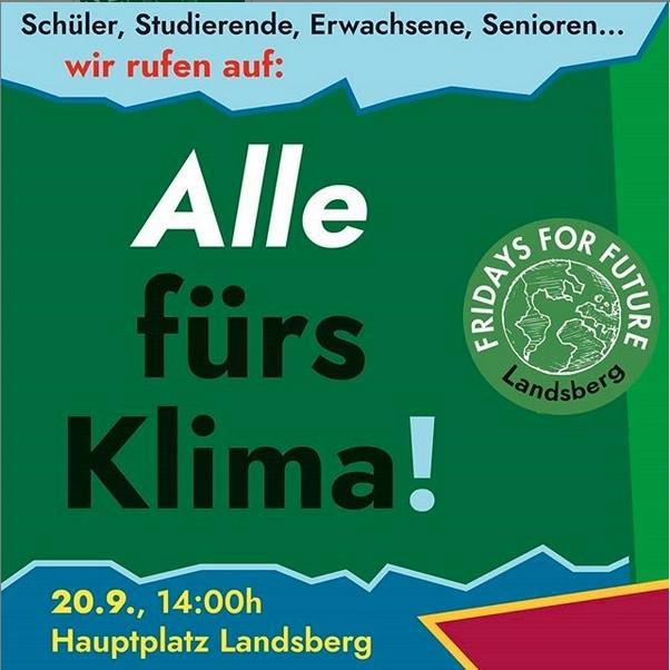 20.09.2019: Klimademo in Landsberg