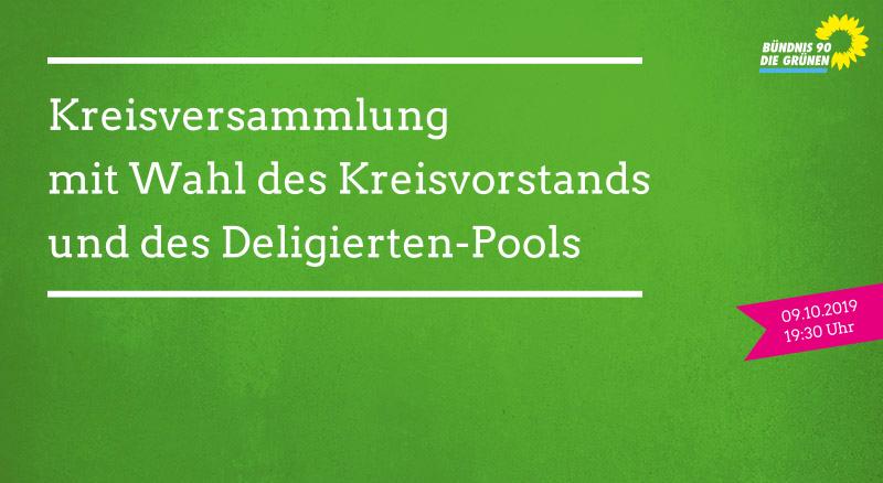 09.10.2019: Kreisversammlung mit Wahl des Kreisvorstands und des Delegierten-Pools