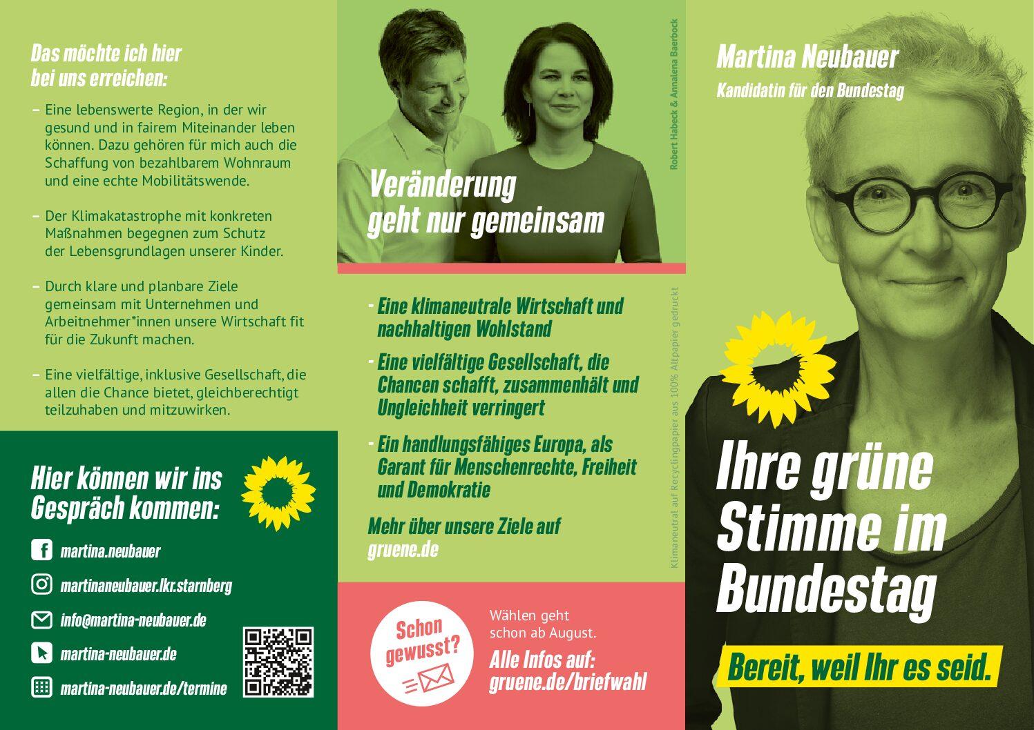 Martina Neubauer: Bereit weil Ihr es seid!
