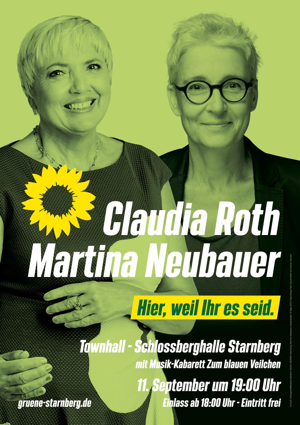 Unterwegs mit Claudia Roth am 11. September