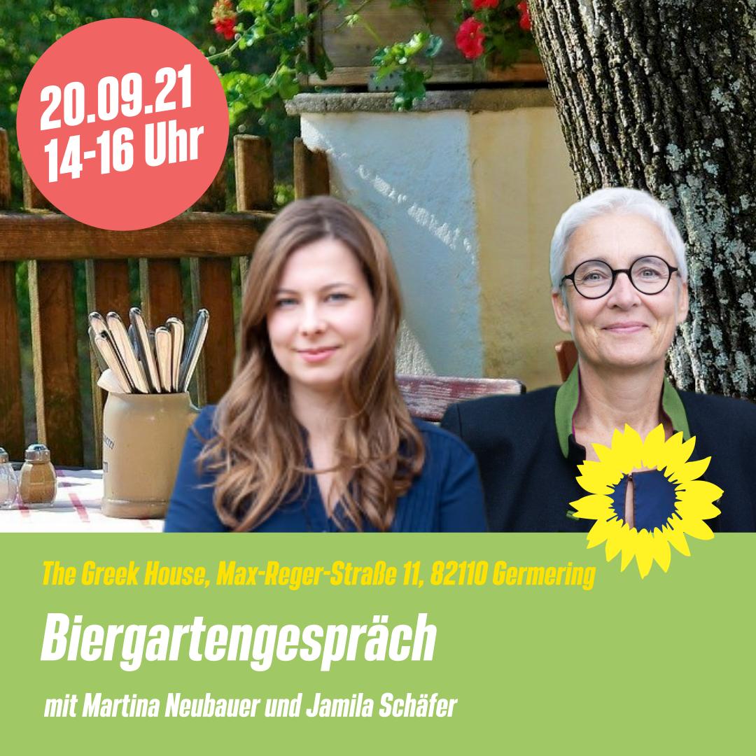 Biergartengespräche mit Jamila Schäfer in Germering am 20. September