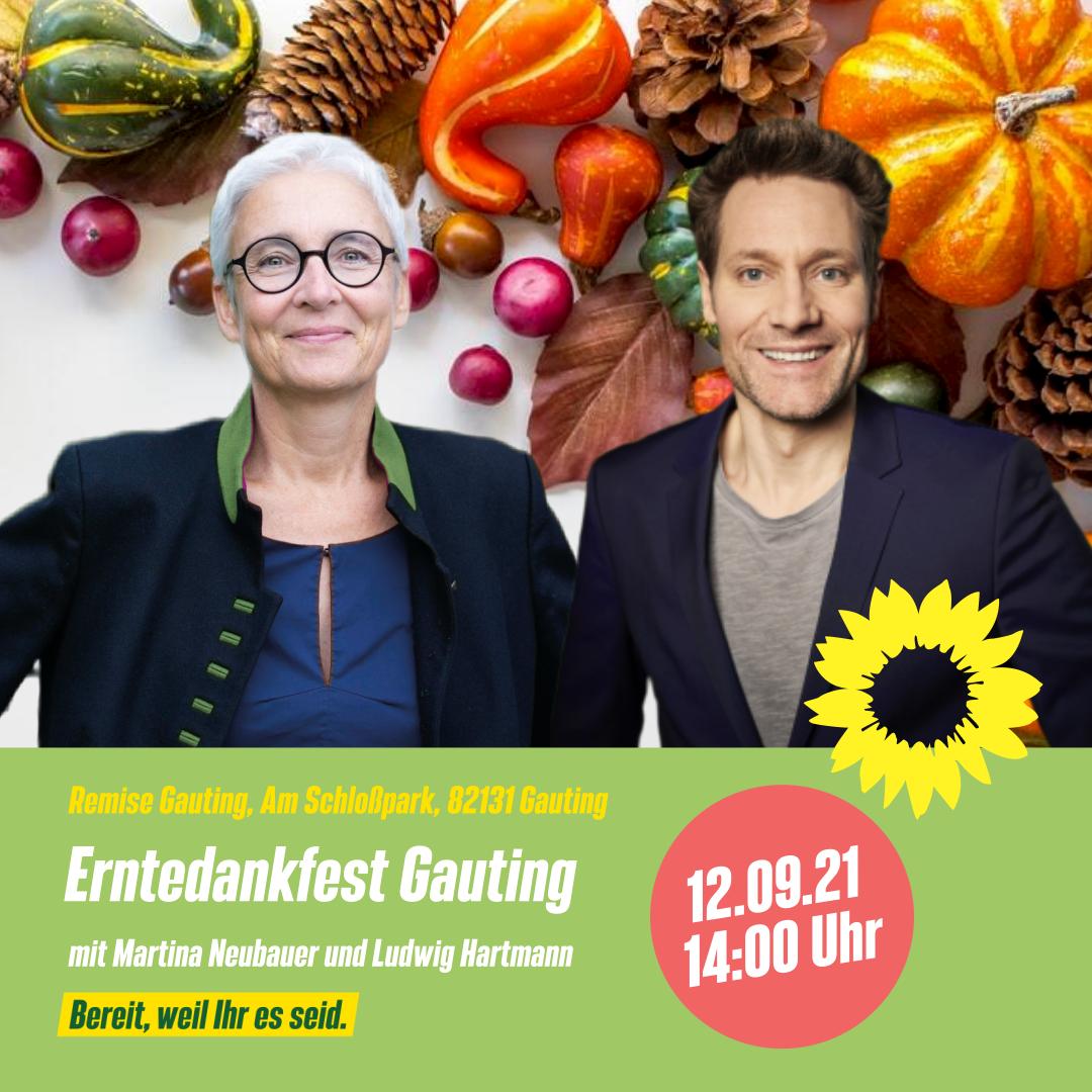 Erntedankfest in Gauting mit Ludwig Hartmann am 12. September